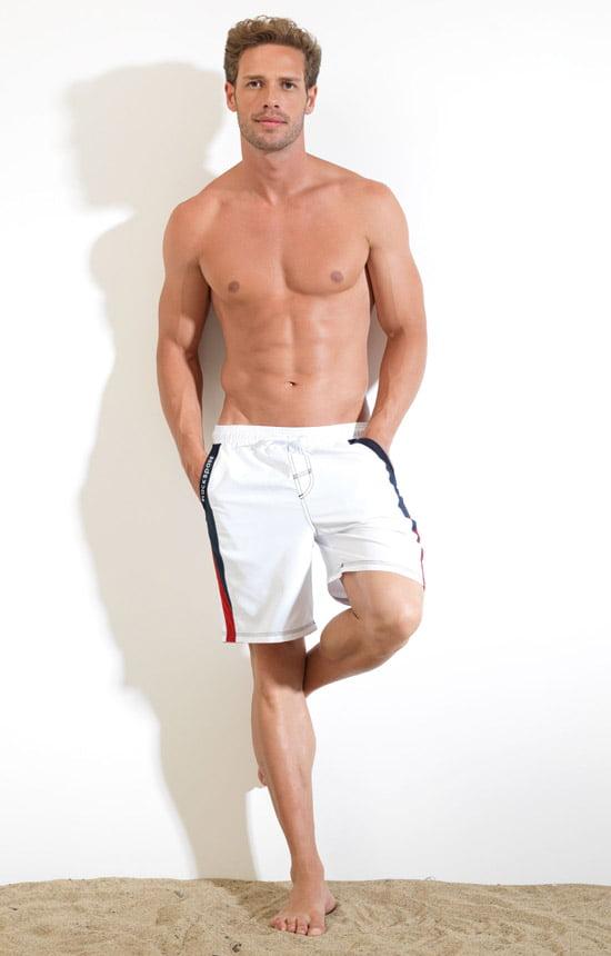 Плавательные мужские шорты белого цвета BlackSpade Beach b8020 белый