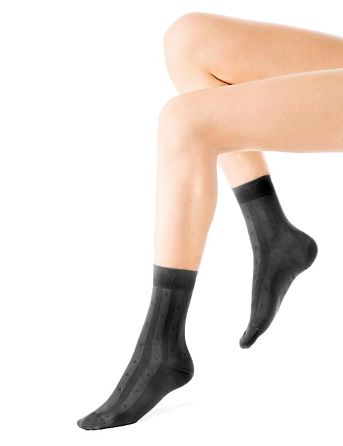 Комплект из 6 пар темно-серых хлопковых носков Charmante SCHM-1001