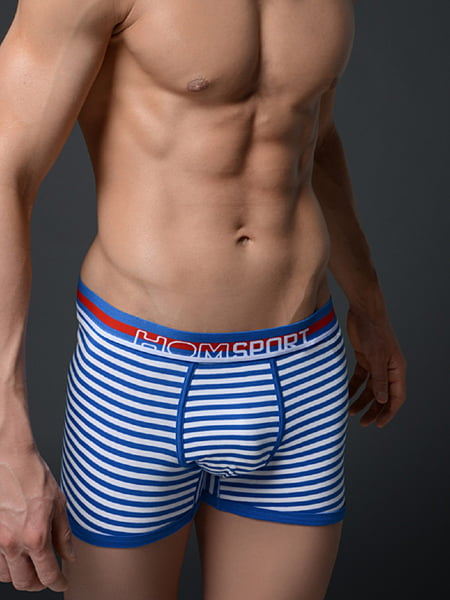 Мужские трусы макси в спортивном стиле с раскраской морячок HOM Flag 08868cW1-3