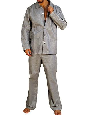 Классическая мужская пижама из хлопка HOM Stripe Light 64712cM013