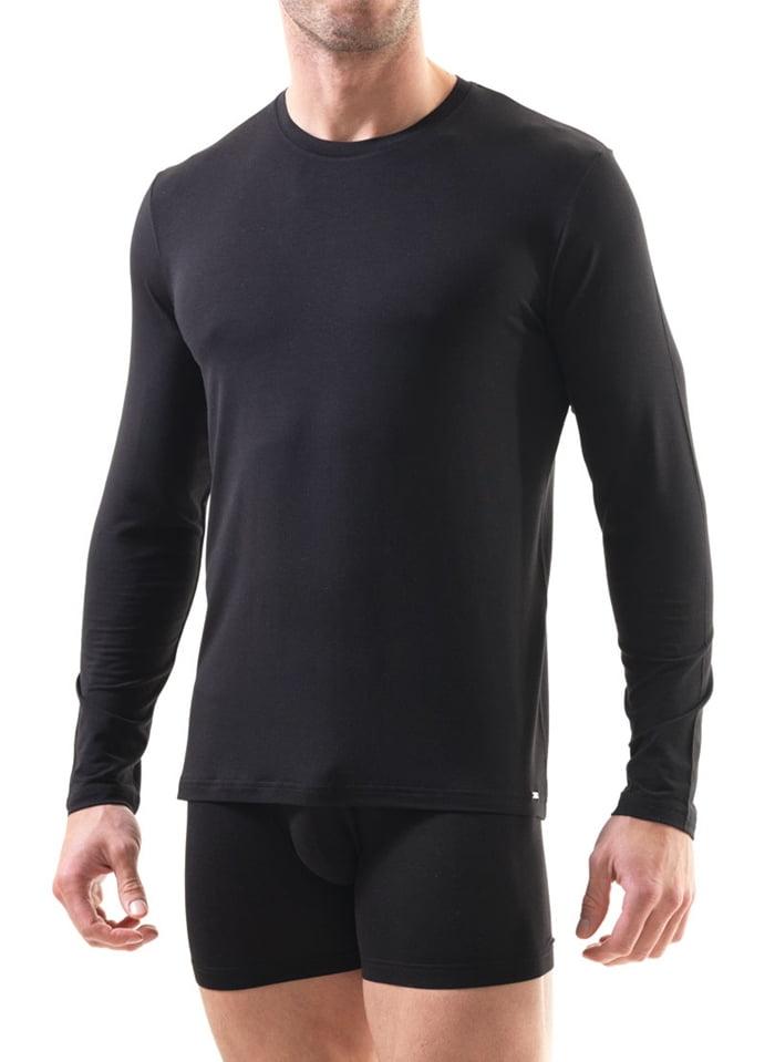 Полуприлегающая мужская футболка с длинным рукавом черного цвета BlackSpade SILVER b9307 черный
