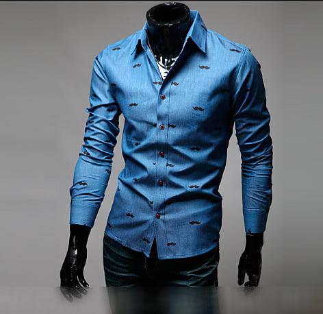 Мужская синяя клубная рубашка Rozen Сlen
