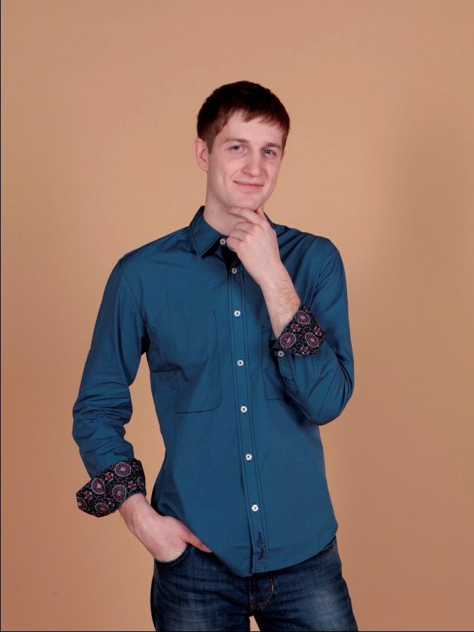 Рубашка мужская Nima Zaree синяя