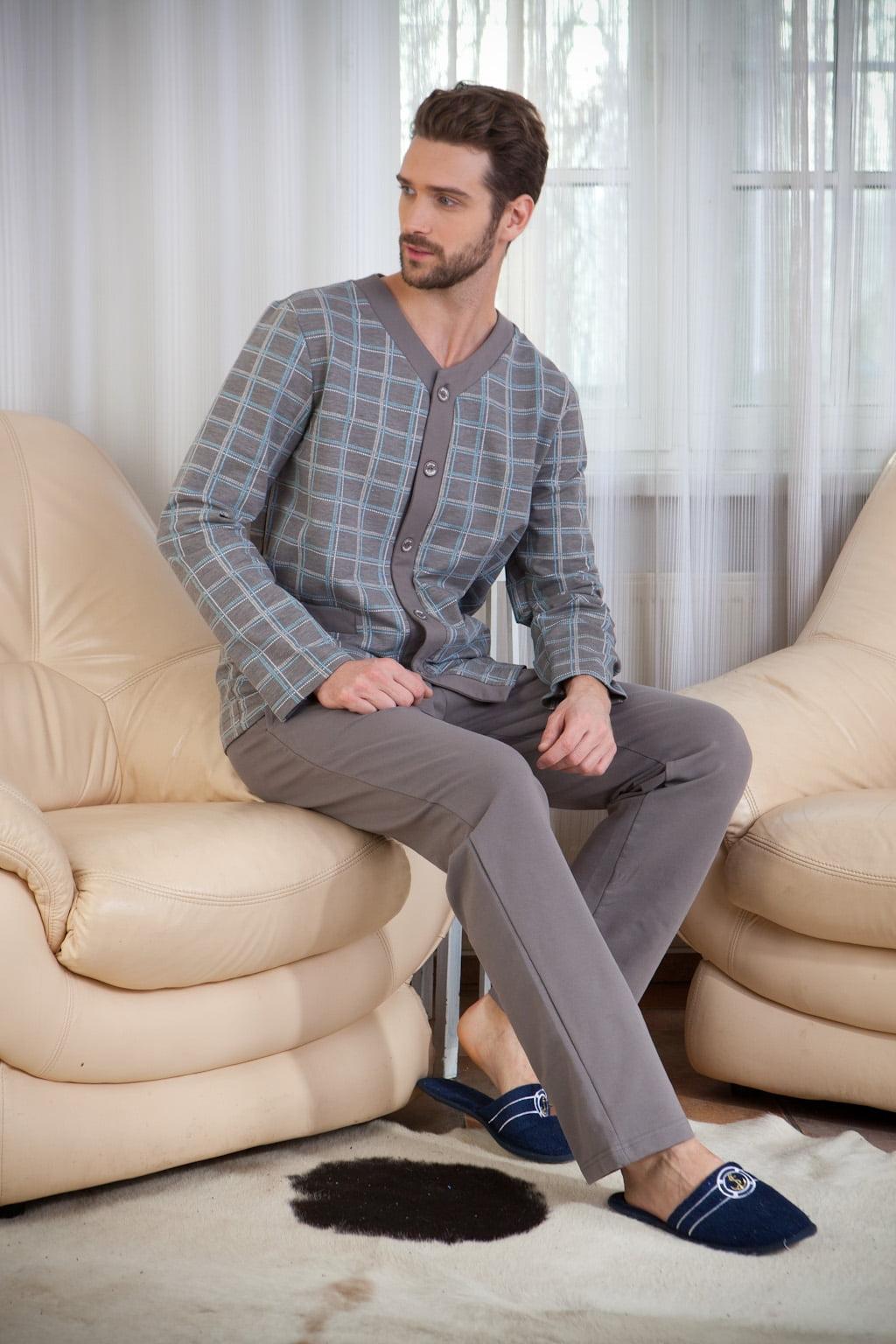 Комфортная мужская пижама из высококачественного легкого трикотажа PECHE MONNAIE Аtmosphere 9 серый