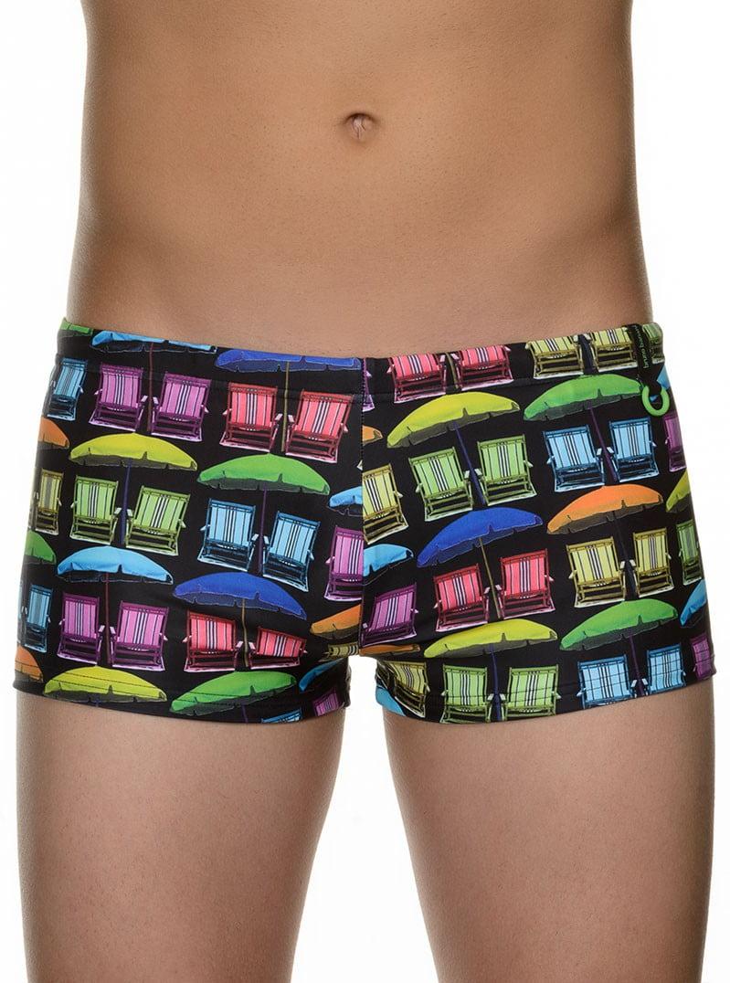 Стильные яркие мужские плавки- хипсы с летним принтом bruno banani 22021373 Sunny