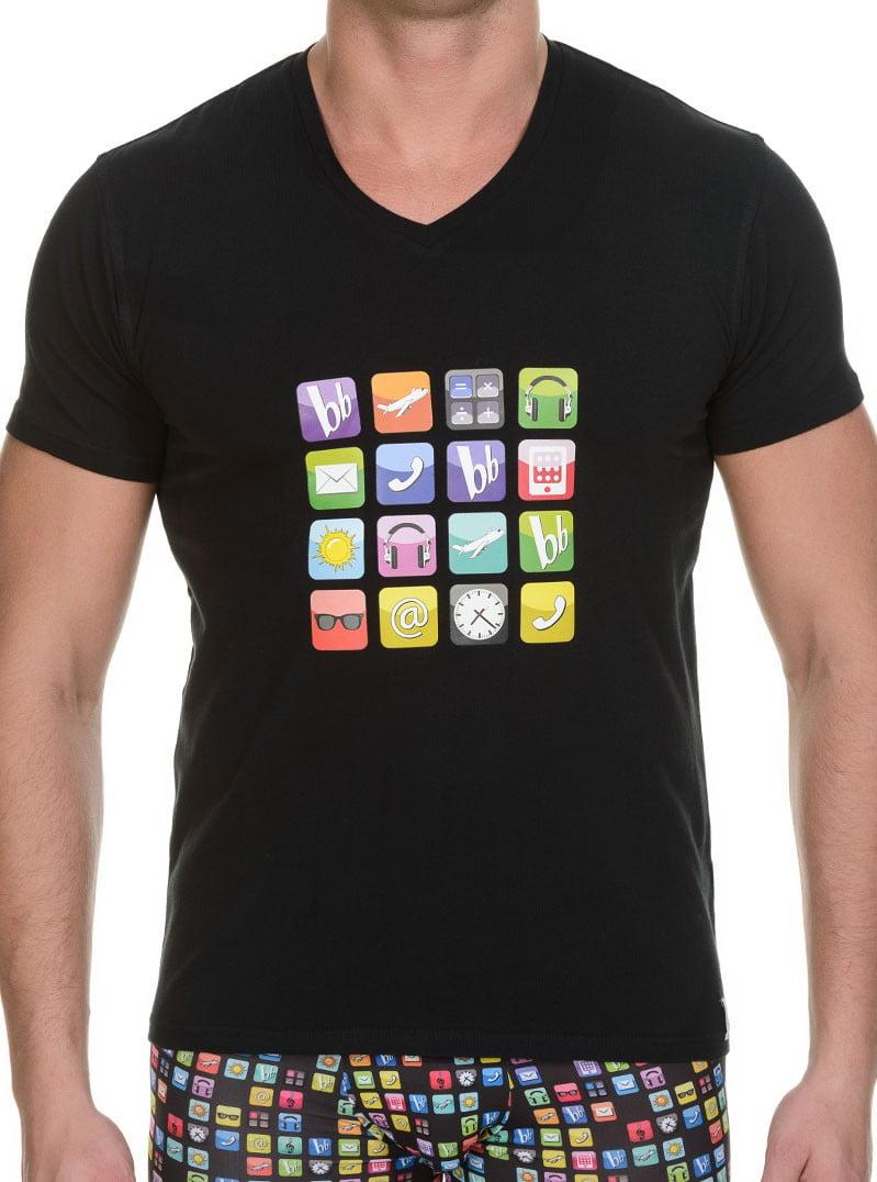 Стильная мужская футболка черного цвета с принтом bruno banani 22041315 App