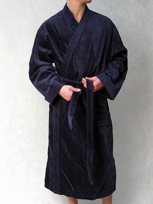 Мужской темно-синий махровый халат HOM New Thalas 54137cM008