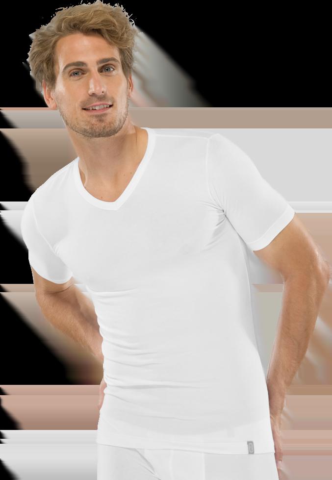 Модная мужская футболка из хлопка белого цвета SCHIESSER 205429шис Белый