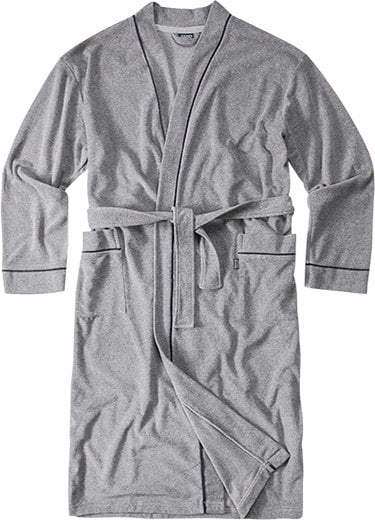 Хлопковый мужской халат серого цвета Jockey Халат/ 50013 Nos (муж.) Серый