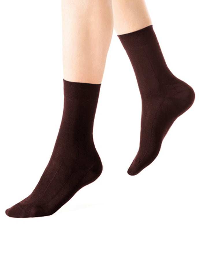 Комплект из 6 пар коричневых носков из хлопка Charmante SCHM-1004