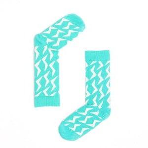 "Веселые зеленые носки унисекс ""Zipper Mint"" Sammy Icon"