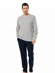 d3508eb80b01 Классическая пижама из рубашки с длинным рукавом и брюк из хлопка Turen  LT4126 Turen серый