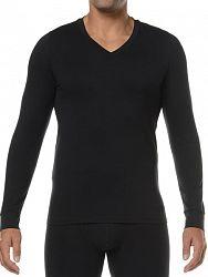 e3c28ce369ec7 Классическая мужская футболка с длинным рукавом черного цвета HOM Original  03252cK9