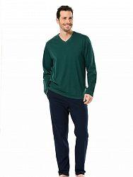 25af39cde553 Натуральная пижама из рубашки и брюк из хлопка Turen LT4126-1 Turen зеленый