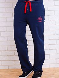 aea71cba89b1 Темно-синие мужские домашние брюки из мягкого трикотажа PECHE MONNAIE 001  темн.синий
