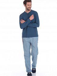 febc3a9ba385 Удобный мужской комплект (фуфайка+ брюки) синего цвета PECHE MONNAIE №27  Синий 2131/3