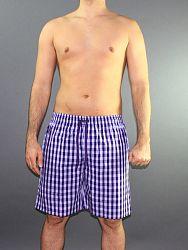 3b856fb48890950 Мужские шорты домашние Impetus 1275598 сине-фиолетовые в клеточку